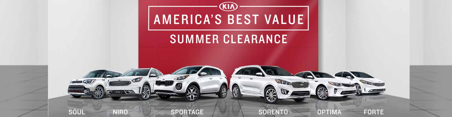 KIA America's Best Value Sales Event