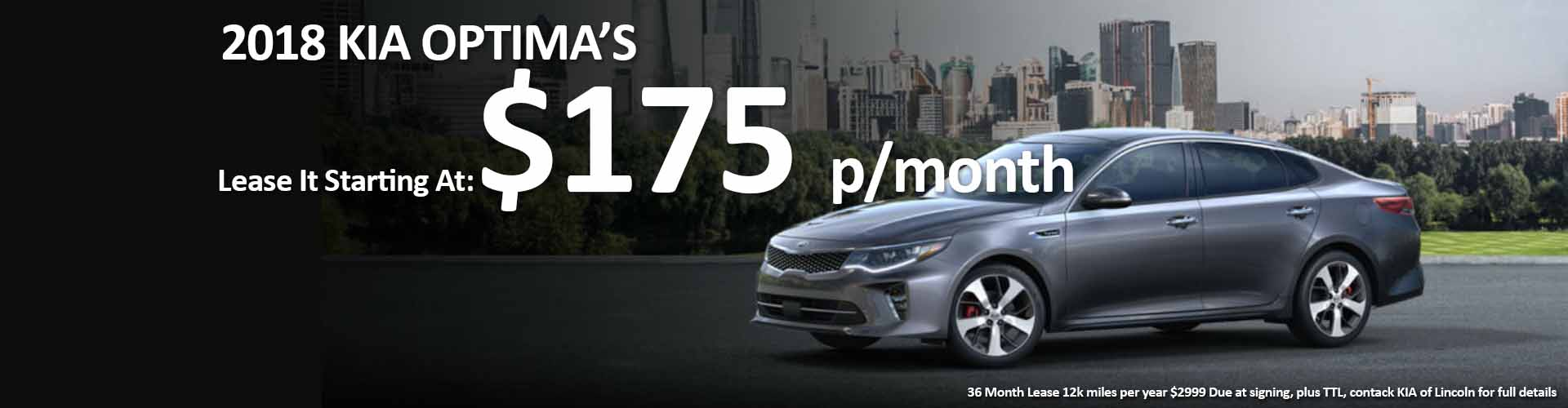 2018 KIA OPTIMA lease special