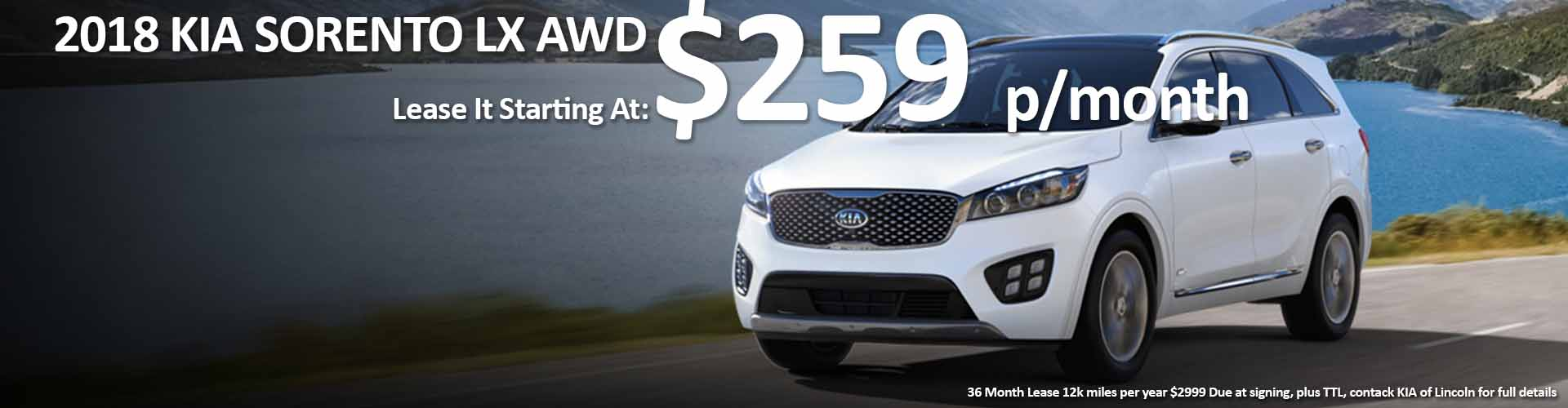 2018 KIA SORENTO LEASE deals Nebraska and Iowa