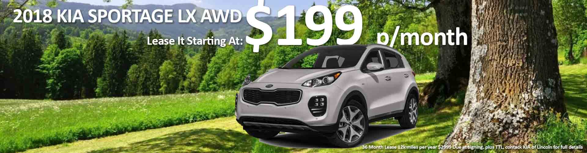 2018 Sportage All wheel drive SUV