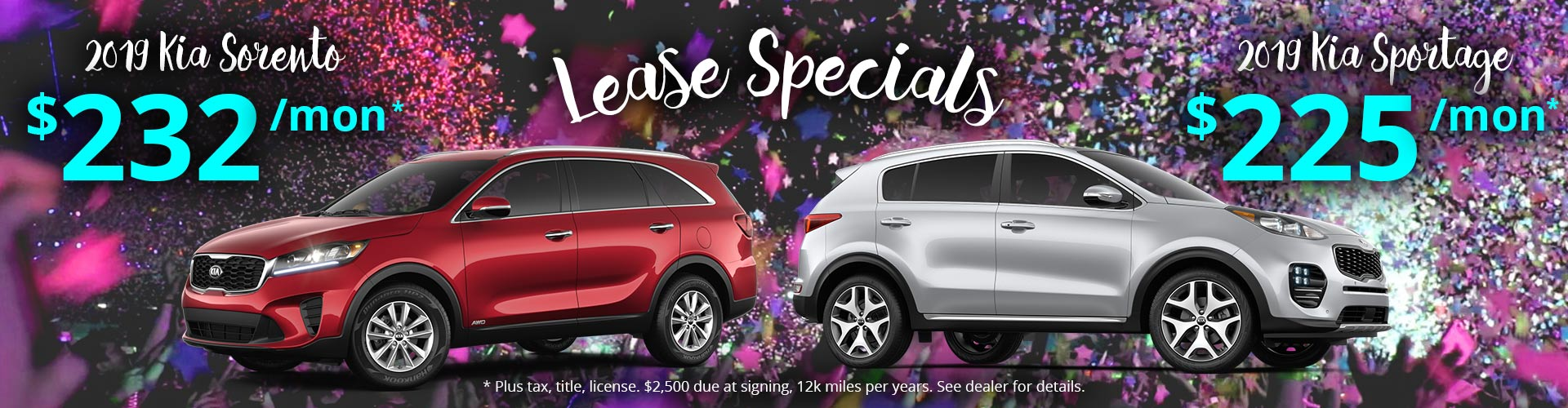 Great Deals on Kia Sportage and Kia Sorento